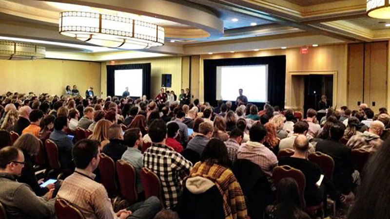 Something to aspire to! NICAR14's Lightning Talks in Atlanta drew more than 1,000 people. Photo via Aaron Kessler's Twitter feed.