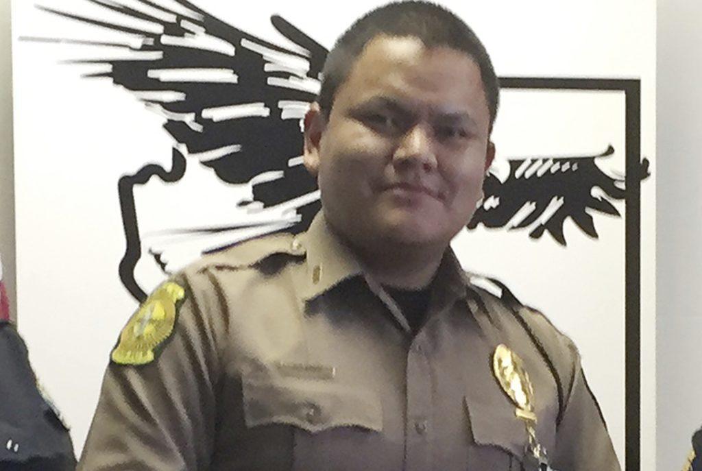 Navajo Nation police officer James Largo (Photo: Navajo Nation Office of the President and Vice President via AP)
